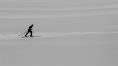 The skier: A view of a cross country skier