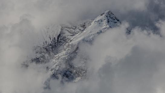 A view of the Cavistrau above Brigels, Switzerland