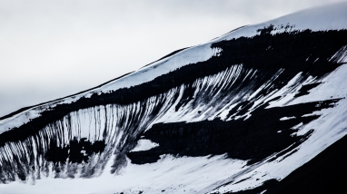 Textures: A view of a mountain close to Longyearbyen, Svalbard