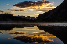 Peace and quiet: A view of a lake near Skjervoy, Norway