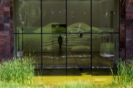 Alone with my thoughts: A view of the Beyeler art galerie.