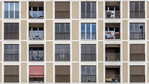 Are we all the same? View of apartments in Basel, Switzerland