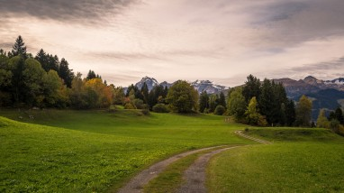 A quiet autumn day: A view of our path whilst cycling in the Alps