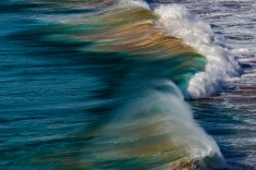 As much sand as surf: Atlantic breaker on a Portuguese beach